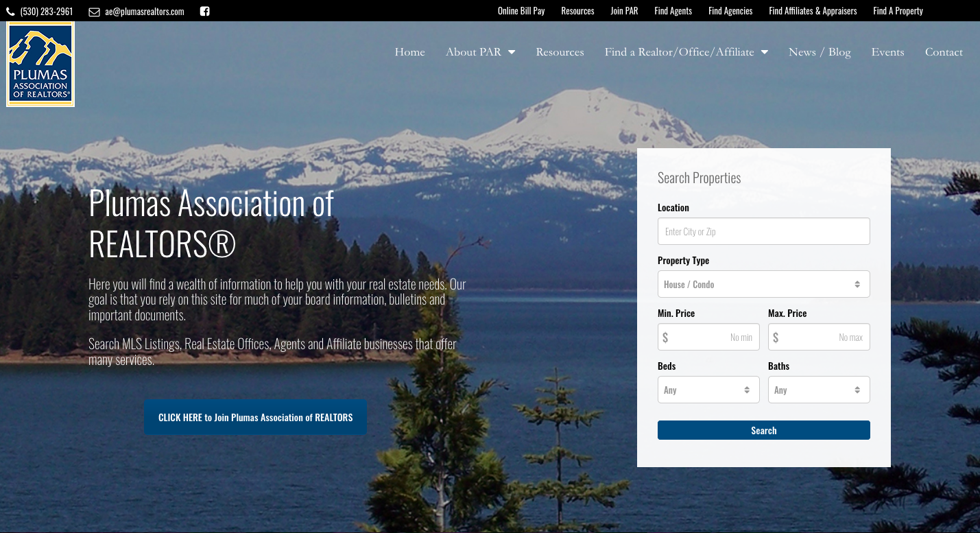 Plumas County Website Design